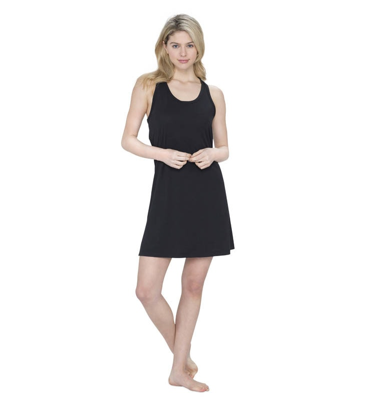 828 women raceback sleepdress black front
