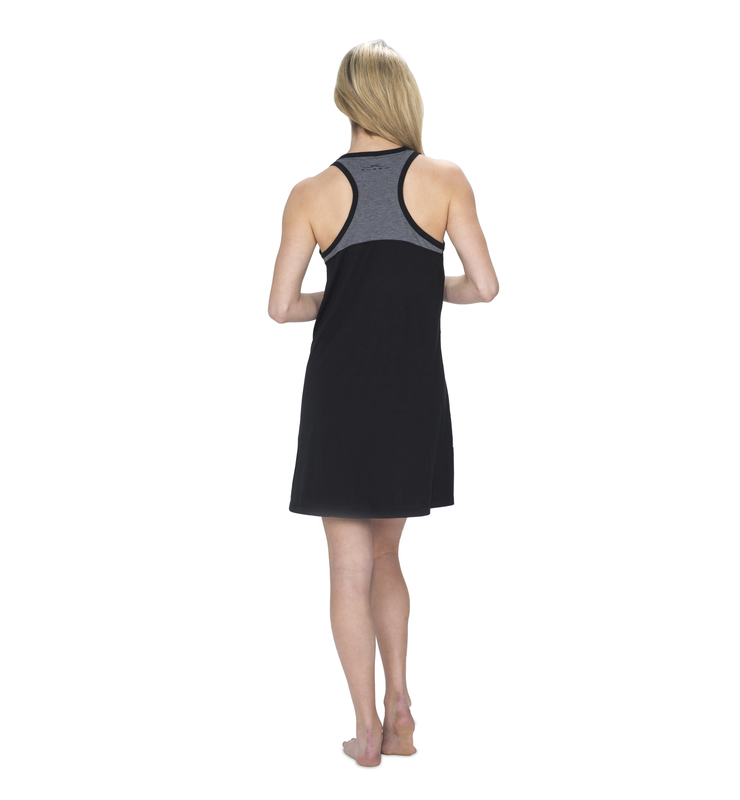828 women raceback sleepdress black back