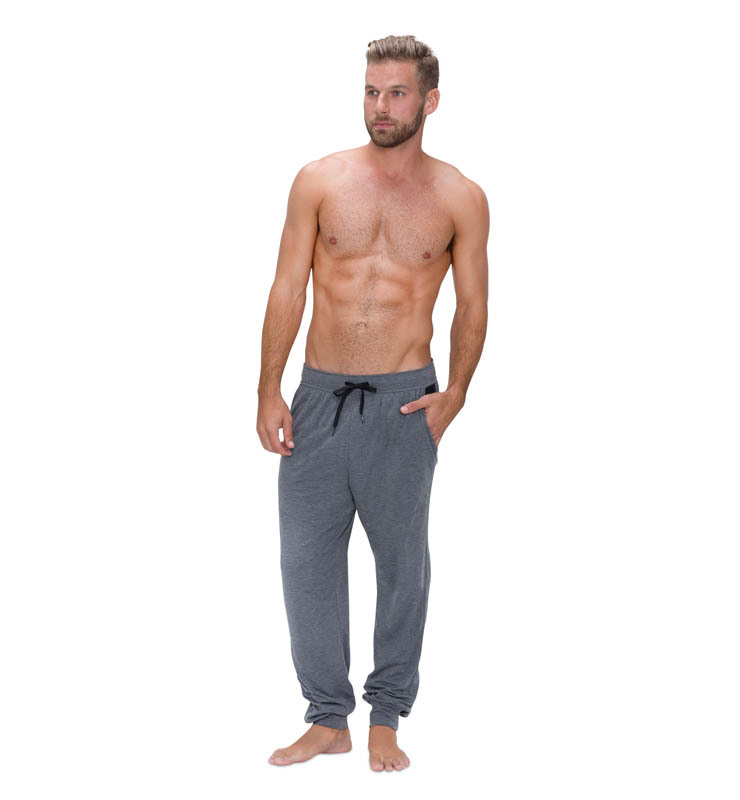 828 men jogger heather grey front