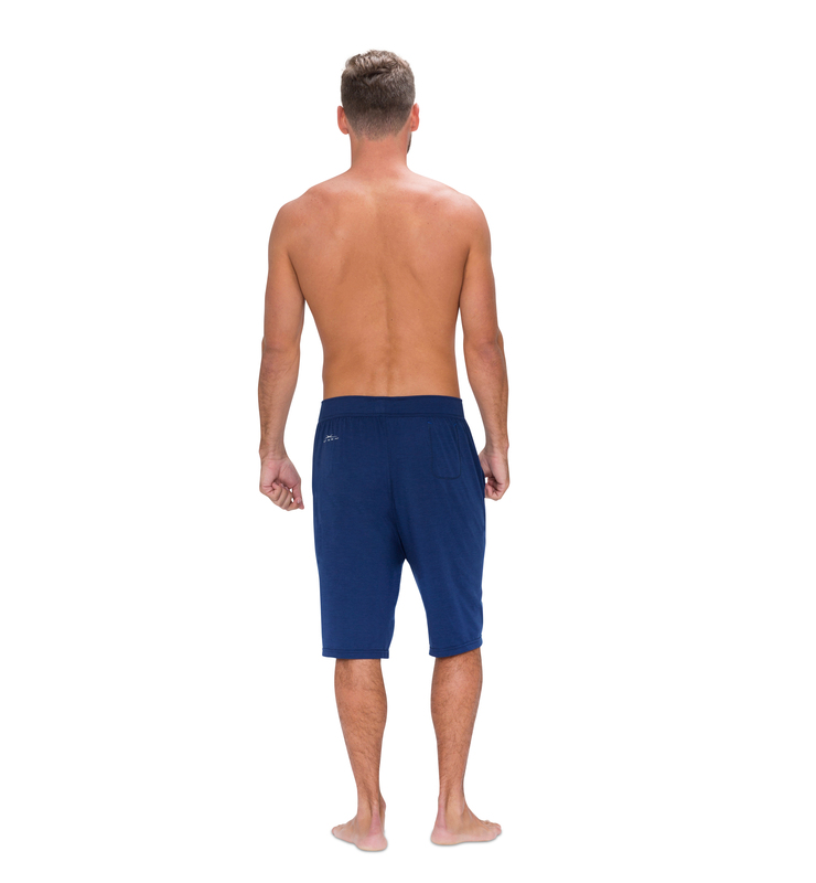 828 men short cobalt blue  back