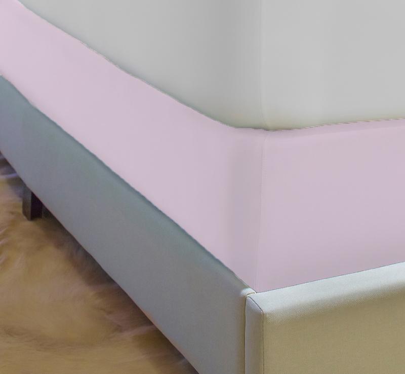 Box spring blush pink
