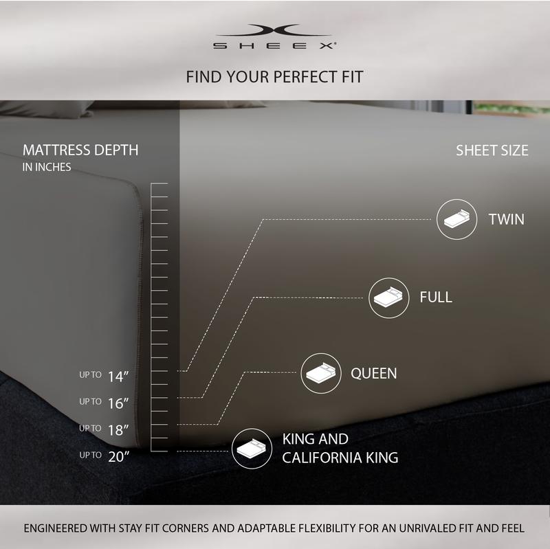 Sheex mattress depth infographic