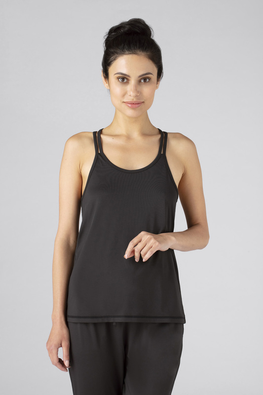 W cross back cami black v1 100021