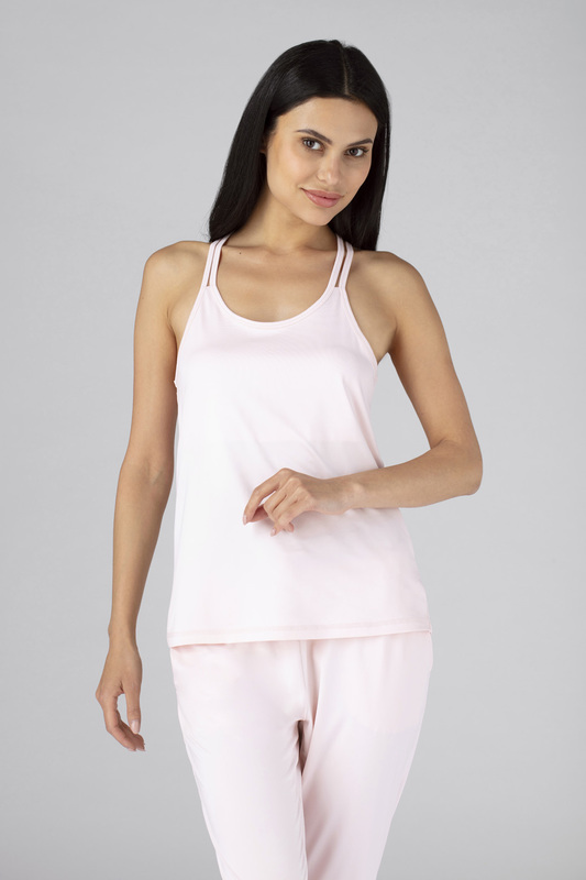 W cross back cami pink v1 100021