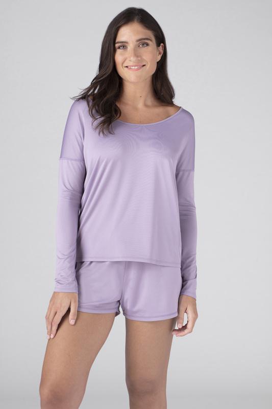 W ls tee open back lavender v1 100023