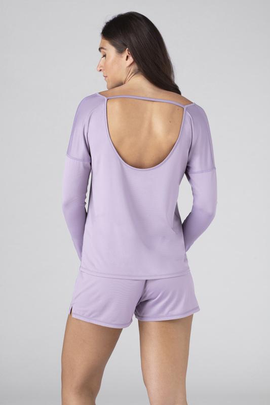 W ls tee open back lavender v3 100023