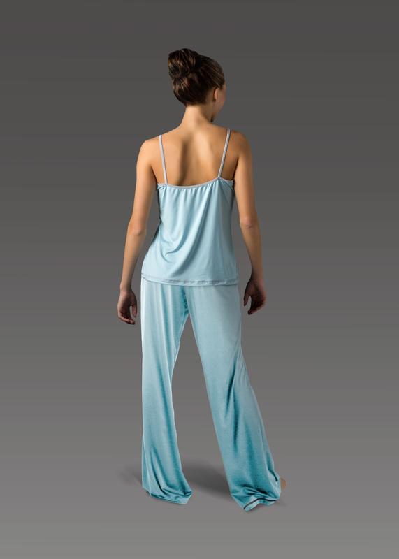 Sleepwear product w flarepant blue back