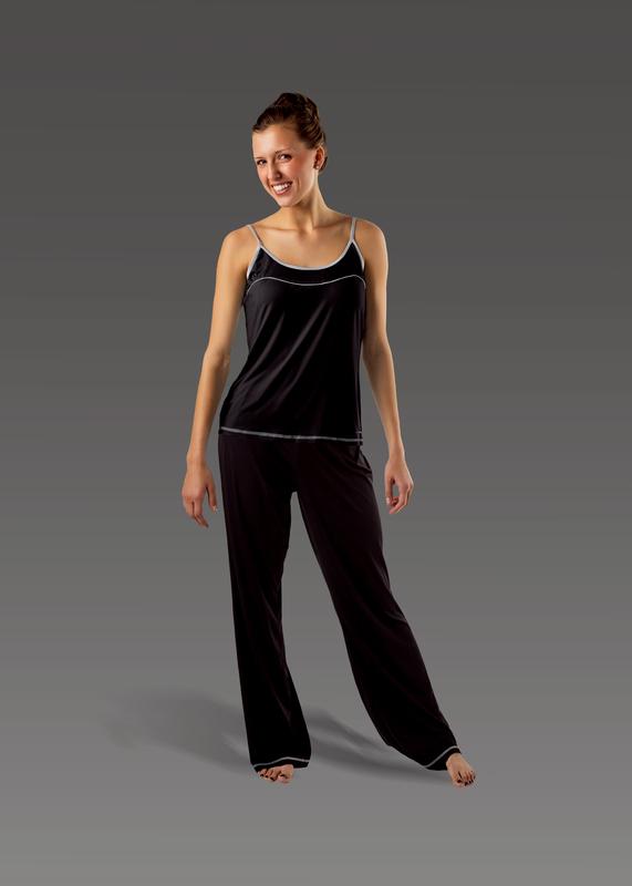 Sleepwear product w flarepant black front