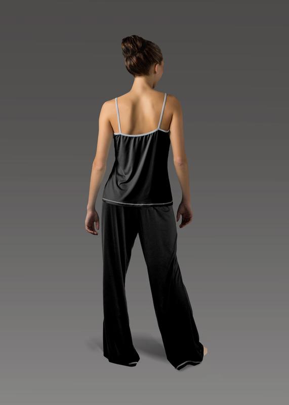 Sleepwear product w flarepant black back