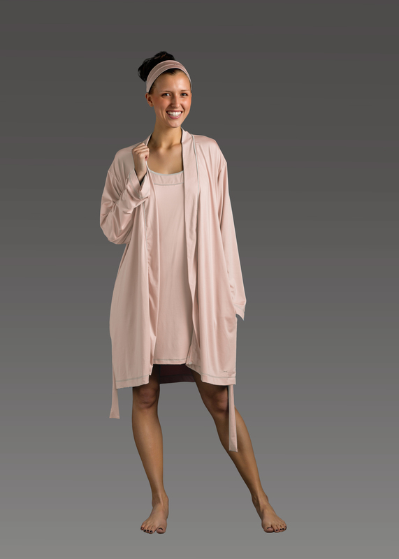 Sleepwear product w robe pink front
