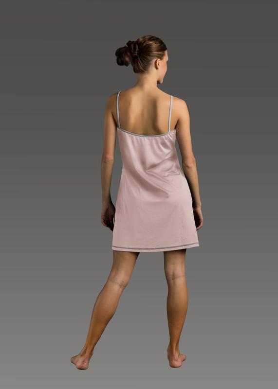 Sleepwear product w chemise pink back