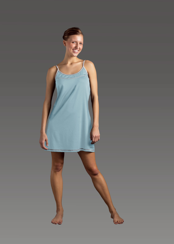 Sleepwear product w chemise blue front