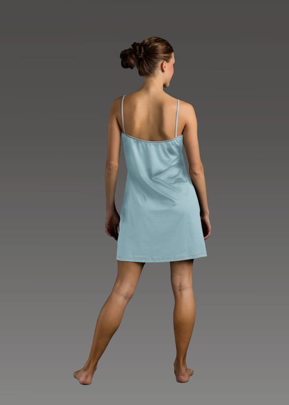 Sleepwear product w chemise blue back