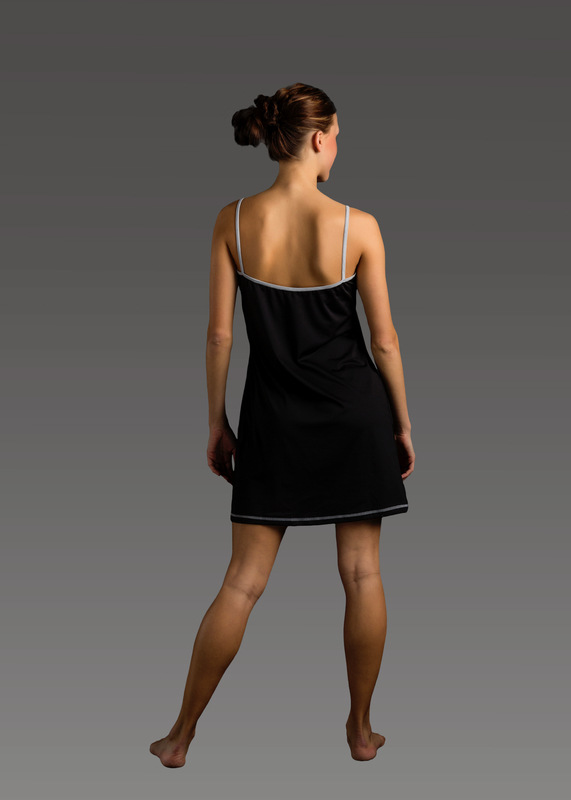 Sleepwear product w chemise black back