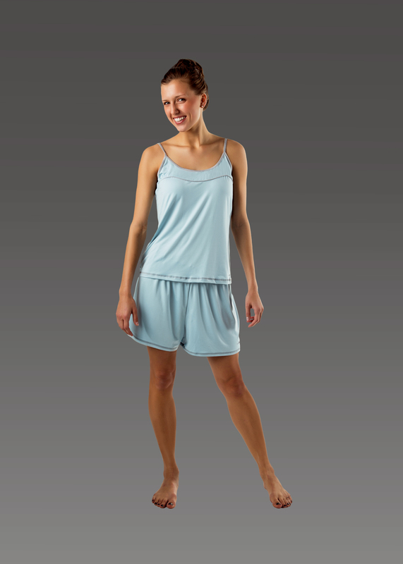 Sleepwear product w camitop blue front